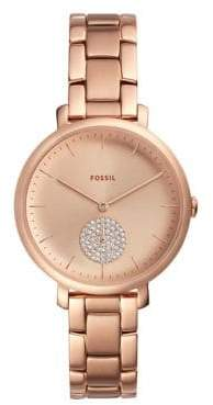 Fossil Jacqueline Three-Hand Stainless Steel Bracelet Watch
