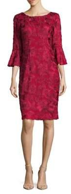Alex Evenings Three-Quarter Bell Sleeve Dress