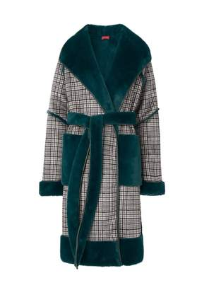 Kitri Finley Green Reversible Teddy Coat