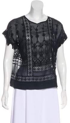 Ulla Johnson Silk Embroidered Top