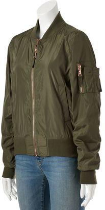Juniors' Madden Girl Zip-Front Bomber Jacket $80 thestylecure.com