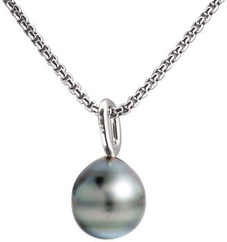 JCPenney FINE JEWELRY Black Tahitian Pearl Drop Pendant Necklace