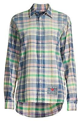 Polo Ralph Lauren Women's Ellen Cotton Madras Plaid Shirt