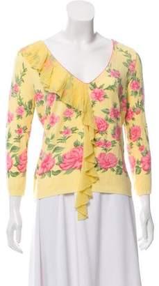 Blumarine Printed V-Neck Sweater