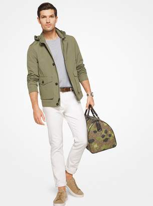 Michael Kors Hooded Cotton-Blend Jacket