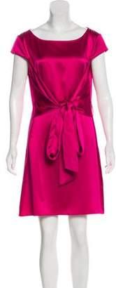 Narciso Rodriguez Silk Cap Sleeve Dress