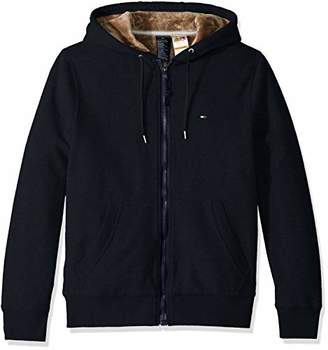 Tommy Hilfiger Adaptive Men's Hoodie with Magnetic Zipper and Fleece Lining