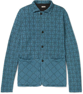 KAPITAL Printed Padded Cotton-Jersey Jacket