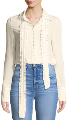 STYLEKEEPERS Dash-Duty Chiffon Button Front Blouse