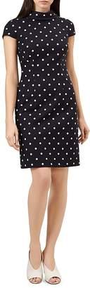 Hobbs London Liana Polka Dot Shift Dress