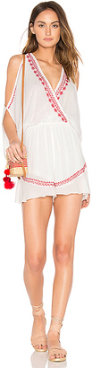 Band of Gypsies Moroccan Embroidered Playsuit in White $55 thestylecure.com
