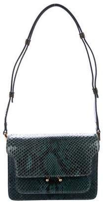 Marni Mini Trunk Snakeskin Shoulder Bag