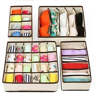 SONGMICS Closet Underwear Organizer Drawer Divider for Bras Panties Socks Ties