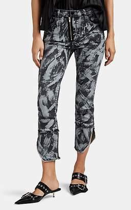 J Brand X KOZABURO Women's Mallory Graffiti-Print Crop Cigarette Jeans - Black