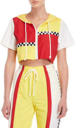 Hot & Delicious Racer Stripe Cropped Jacket