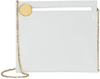 Bienen Davis Max White Leather Square Clutch Bag