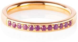 Lola Rose London - Curio Half Eternity Ring Rhodolite