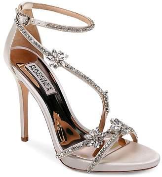 Badgley Mischka Women's Hodge Embellished Satin Strappy High-Heel Sandals