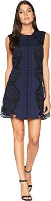 Juicy Couture Black Label Women's Knit Ponte Laser Cut Dress