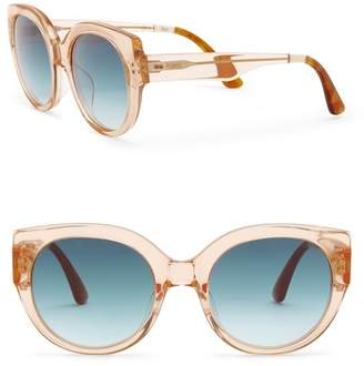 Toms Luisa 54mm Peach Crystal Sunglasses