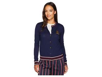 Lauren Ralph Lauren Petite Bullion-Patch Cotton Cardigan
