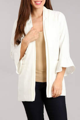 Blvd Ruffle Sleeve Jacket