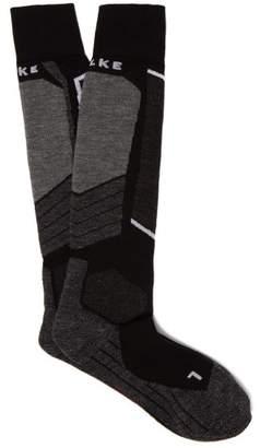 Falke Sk2 Knee High Ski Socks - Womens - Black Grey