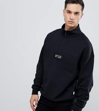 Nicce London overhead windbreaker jacket in black exclusive to ASOS