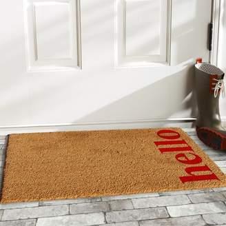 Wrought Studio Helsley Vertical Hello Doormat Mat