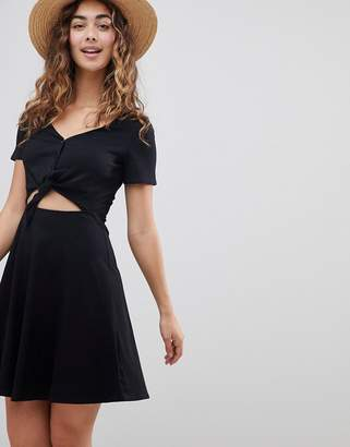 Asos DESIGN Skater Sundress with Button Front and Tie Knot
