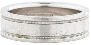 Tiffany & Co. Platinum Double Milgrain Wedding Band