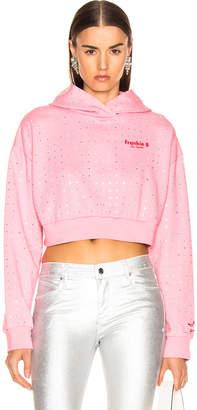 Frankie B. All Over Rhinestone Hoodie in Pink   FWRD