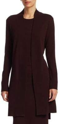 Akris Punto Long Open-Front Wool& Cashmere Cardigan