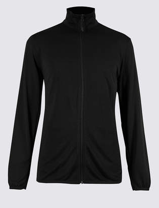 M&S Collection Active Lightweight Zip Through Top