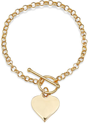 FINE JEWELRY 14K Gold Over Sterling Silver Heart Toggle Link Bracelet $218.72 thestylecure.com