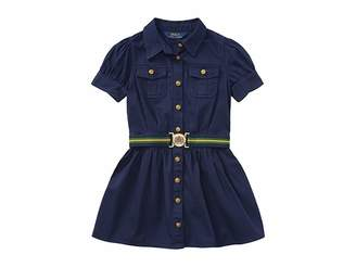 Polo Ralph Lauren Tissue Chino Shirtdress (Little Kids)