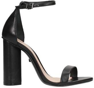 Schutz Black Calf Leather Sandals