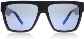 McQ AM0035S Sunglasses Matte Black / Blue AM0035S 57mm