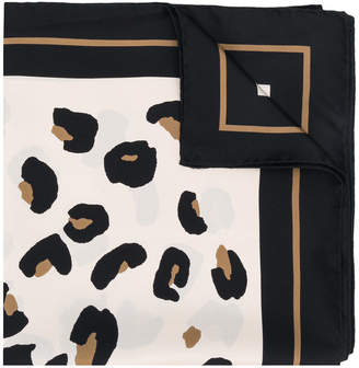 Max Mara leopard print border scarf