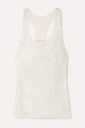 Ashish Sequined Georgette Tank - White