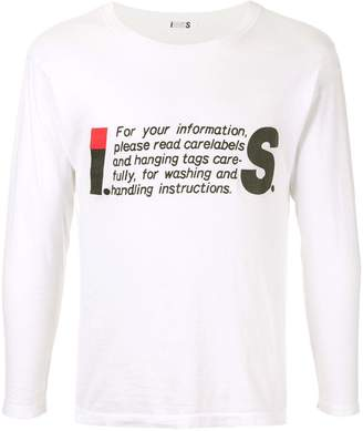 Issey Miyake Pre-Owned 1980's Sport Line Care label longsleeved T-shirt