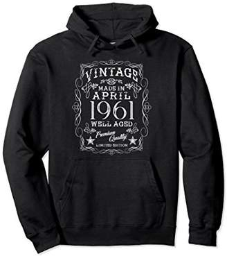 Vintage Born in April 1961 Made in 1961 Birthday Gift Hoodie