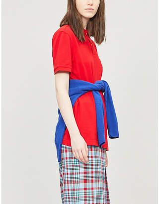 Benetton Snoopy-graphic cotton-jersey polo shirt