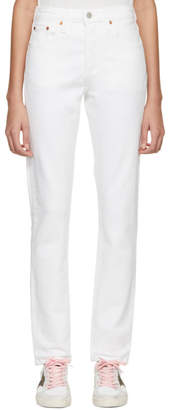 Levi's Levis White 501 Stretch Skinny Jeans