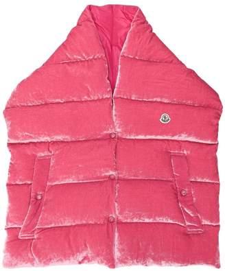 Moncler padded velvet gilet scarf