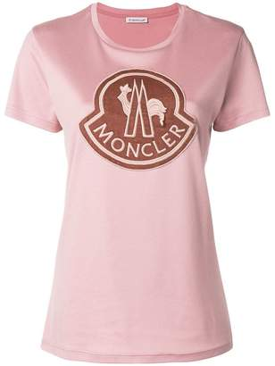 Moncler embroidered front logo T-shirt