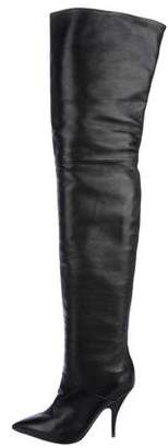 Celine Leather Over-The-Knee Boots