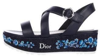 Christian Dior Prairie Denim Sandals