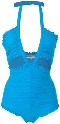 Emilio Pucci draped ruffled swimsuit