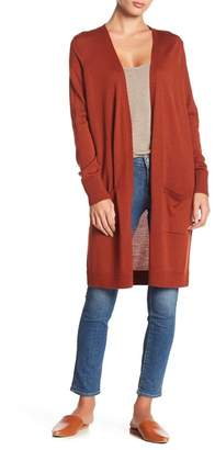 Halogen Wool Blend Open Front Cardigan